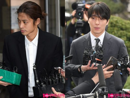 집단 성폭행 혐의를 받고 있는 정준영과 최종훈./ 사진=텐아시아DB