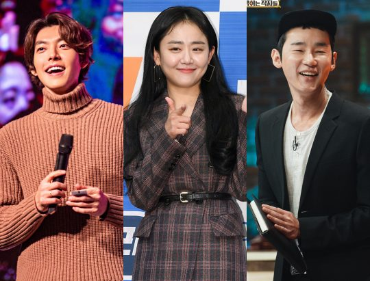 배우 김우빈(왼쪽부터), 문근영, 방송인 허지웅. /사진=싸이더스HQ, 텐아시아DB, 방송 캡처