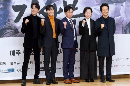 시즌1부터 돌담병원 식구들로 함께한 배우 윤나무(왼쪽부터), 김민재, 임원희, 진경, 한석규. /서예진 기자 yejin@