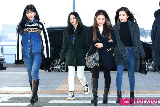 그룹 레드벨벳 조이(왼쪽부터), 슬기, 예리, 아이린./사진=텐아시아DB
