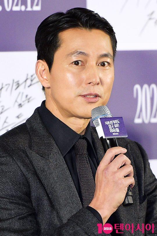사라진 애인 때문에 빚에 시달리는 태영 역의 배우 정우성. /서예진 기자 yejin@