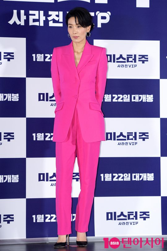 영화 '미스터 주: 사라진 VIP'에서 국가정보국 서열 1위 민국장으로 분한 배우 김서형./ 서예진 기자 yejin@