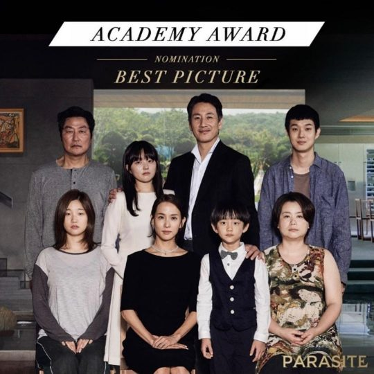 제92회 아카데미상 6개 부문 후보에 오른 영화 '기생충'./ 사진=박소담 인스타그램