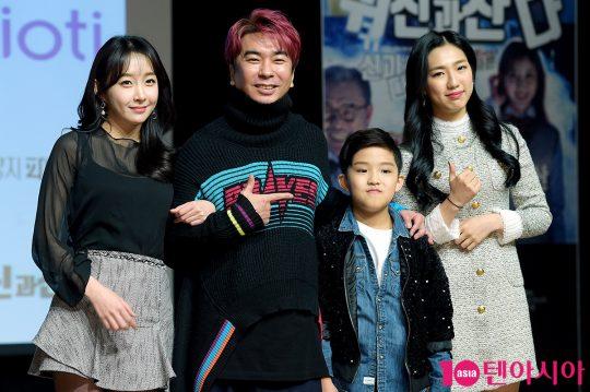 배우 이진희(왼쪽부터), 김정남, 양승호, 노체훈
