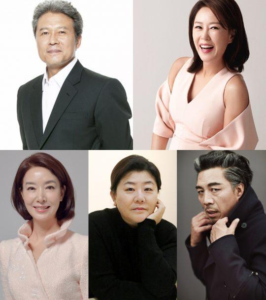 배우 천호진(왼쪽위부터 시계방향), 차화연, 안길강, 이정은, 김보연./사진=각 소속사 제공