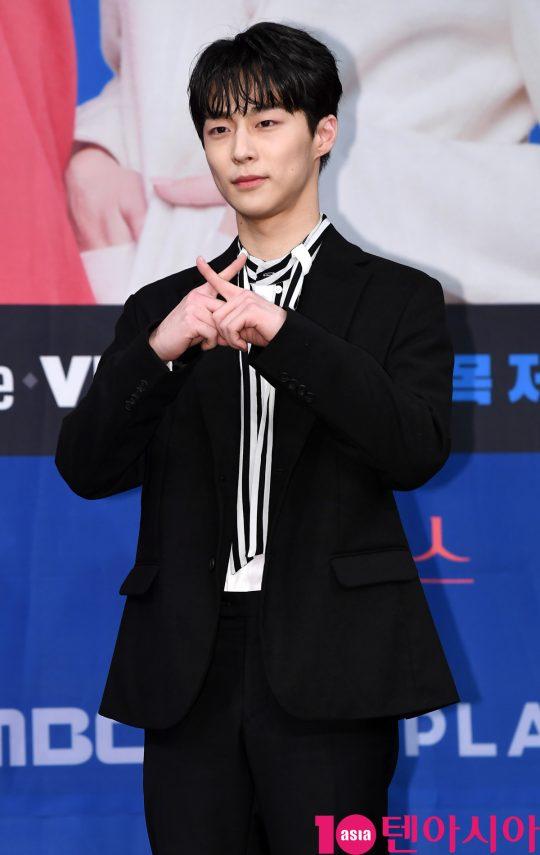 배우 배인혁이 20일 오후 서울 상암동 MBC 골든마우스홀에서 열린 MBC 새 드라마 '엑스엑스(XX)' 제작발표회에 참석하고 있다.