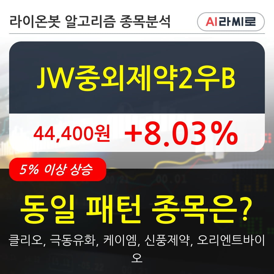 JW중외제약2우B