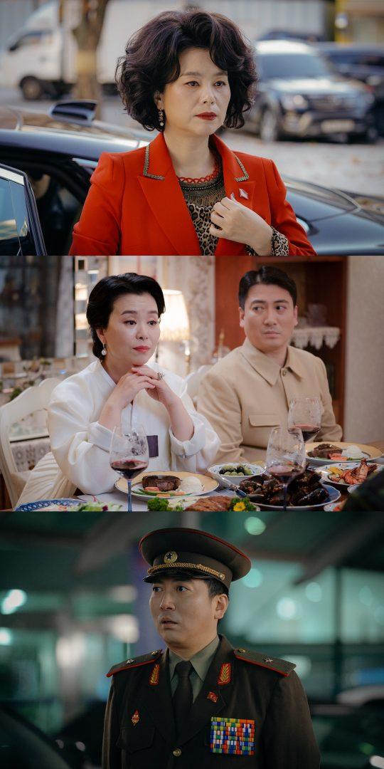 '사랑의 불시착'에서 남매 케미를 보여주고 있는 배우 장혜진, 박명훈. /사진제공=tvN