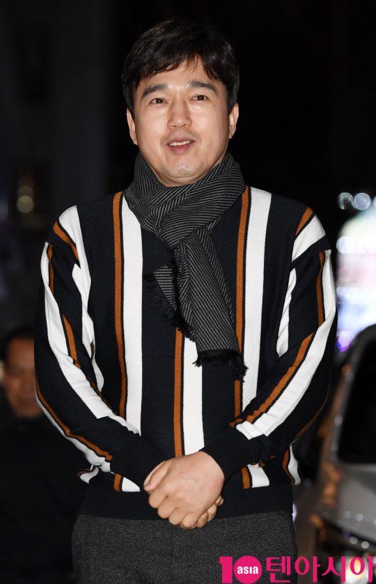 배우 김광규가 22일 오후 서울 여의도 한 음식점에서 열린 JTBC 월화드라마 '검사내전' 쫑파티에 참석하고 있다.
