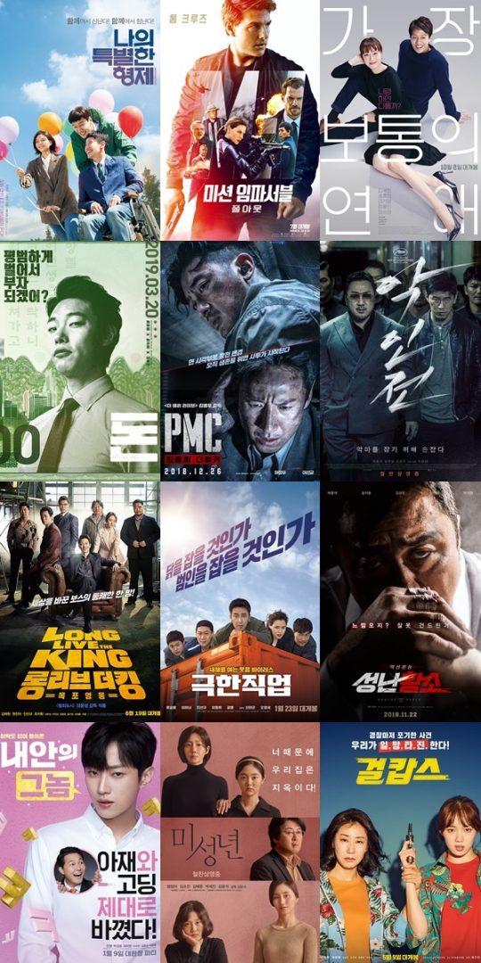 '2020년 설 연휴 특선영화 라인업'./ 사진제공=각 영화사