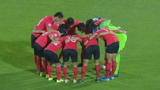 U-23 한국축구대표팀. /사진제공=JTBC