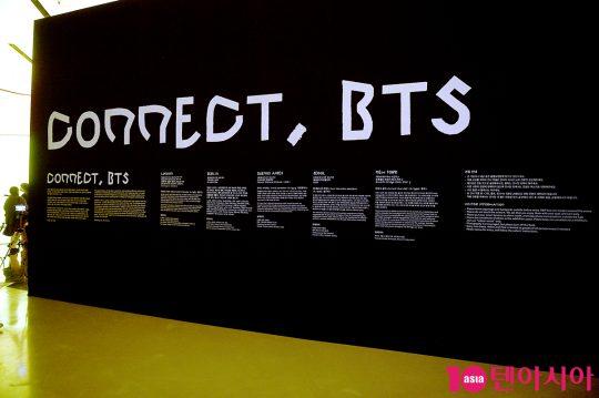 그룹 방탄소년단이 협업한 글로벌 현대미술 프로젝트 '커넥트, 비티에스(CONNECT, BTS)'의 전시회. / 서예진 기자 yejin@
