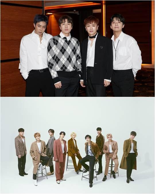 그룹 젝스키스(위), 슈퍼주니어./ 사진제공=YG엔터테인먼트, 레이블SJ