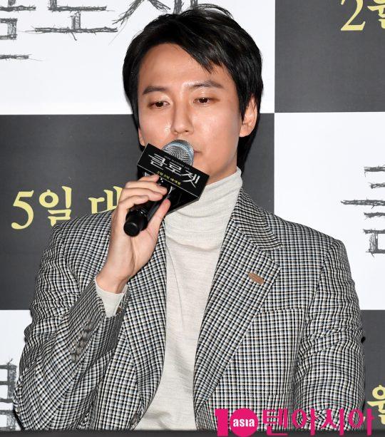 배우 김남길이 29일 오후 서울 한강로3가 CGV 용산아이파크몰점에서 열린 영화 '클로젯' 언론시사회에 참석하고 있다.