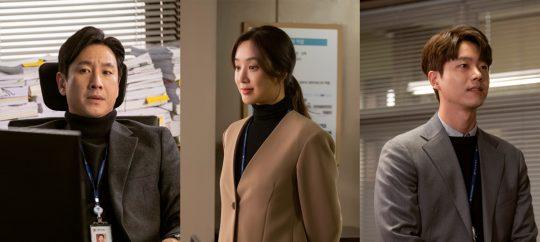 JTBC '검사내전'에 출연하는 이선균(왼쪽부터), 정려원, 전성우. / 제공=에스피스