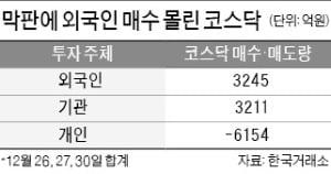 중소형株 막판 '불꽃'…올해 반등의 서막?