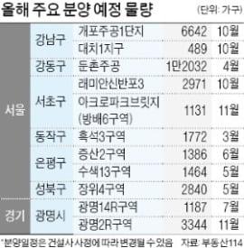 """수도권 재건축·재개발 9만가구 나와…""""가점 50점 이상, 로또 청약 도전"""""""
