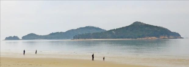 국내 최장 12㎞ 길이의 임자도 대광해변