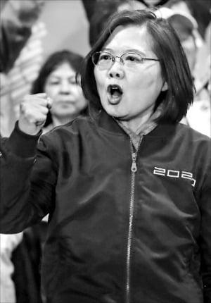 차이잉원, 11일 대만 총통 재선 유력…中에 화해 손짓