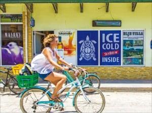 라디그의 주요 교통수단인 자전거