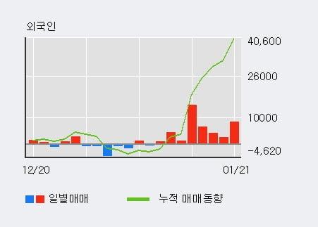 '서흥' 52주 신고가 경신, 최근 3일간 외국인 대량 순매수