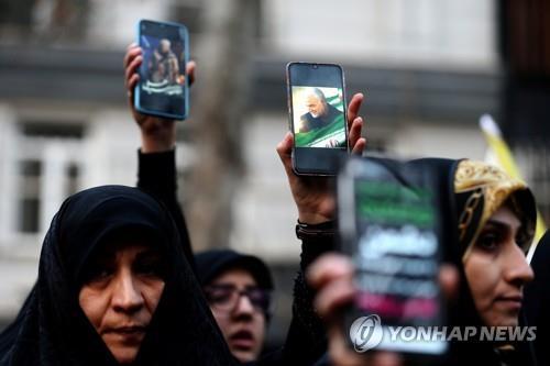 '美에 폭사' 이란군 실세 이라크 시아파 성지서 장례식