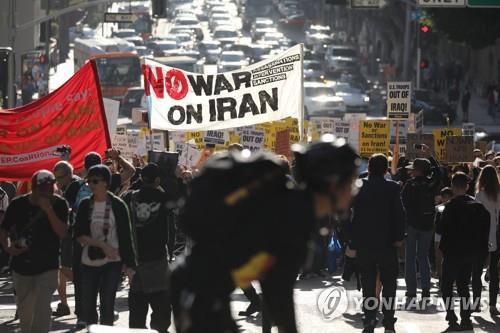 美의회에 對이란 전쟁 반대결의안 발의…美 곳곳서 반전집회도