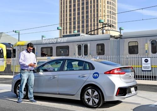 현대차, 美LA서 카셰어링 사업 도전…택시·우버값의 5분의 1(종합)