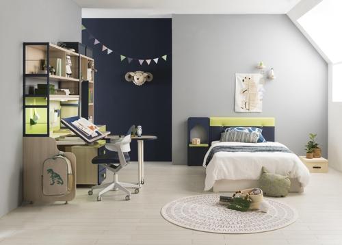 자녀방 가구 '차분한 색' 대세…기능성 가구 인기 꾸준