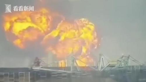 """중국 주하이 화학공장 폭발사고…""""큰 불길 치솟아"""""""