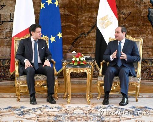 """이집트 대통령·이탈리아 총리 """"리비아 내전 정치적 해결 지지"""""""