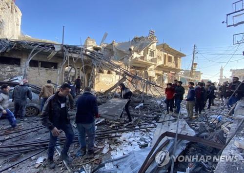 """시리아인권관측소 """"러시아 전투기, 휴전 이후 반군지역 공습""""(종합)"""
