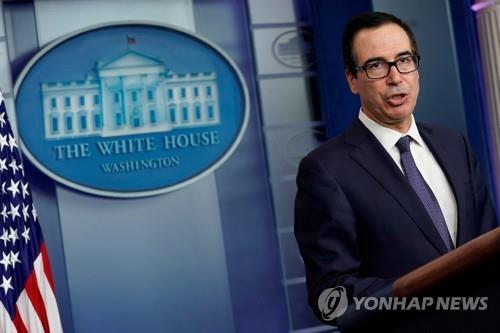 """므누신 """"중국이 무역협상 위반 시 관세 인상할 수 있다"""""""