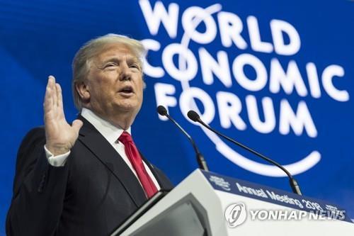 트럼프, 탄핵심리일에 다보스포럼 참석…성과 내세워 맞불전략