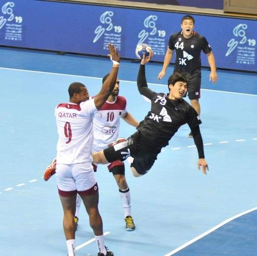 한국 남자핸드볼, 아시아선수권 결선리그서 카타르에 패배