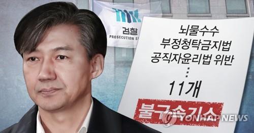 조국 '가족비리 의혹' 첫 재판 연기…'감찰무마 의혹'과 병합