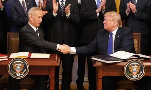 """미중, 1단계 무역합의안 서명…""""미국 추가관세 철회"""""""