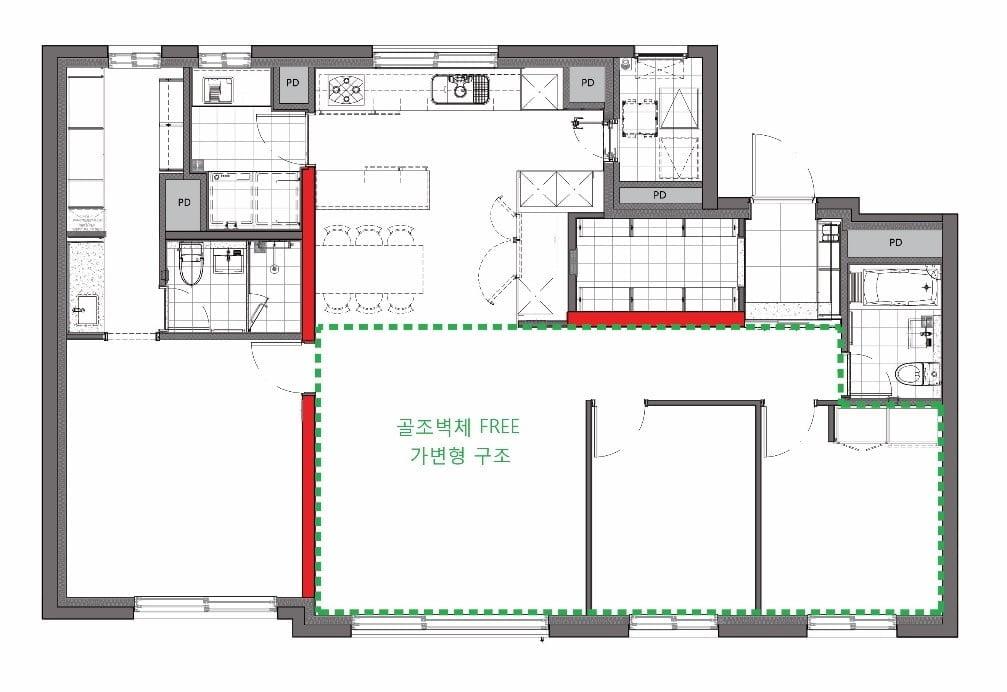 """대림산업, 가변형 벽식 구조 특허권 최초 획득…""""아파트 공간 구성 자유롭게"""""""