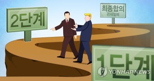 """트럼프 """"2단계 시작 아주 좋은 위치""""…류허 """"현명하지 못해"""""""