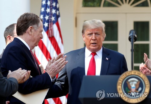 "USTR 대표 ""1단계 무역합의는 큰 진전…중국 준수 기대"""