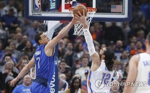 폴, 역전포…NBA 오클라호마시티, 댈러스에 승리