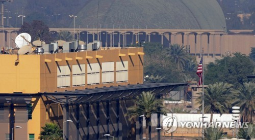 """이라크 미국대사관 근처에 또 로켓공격…""""이란지원 민병대 의심"""""""