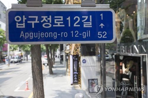 서울 강남구 '가로수길' 법정도로명화 추진