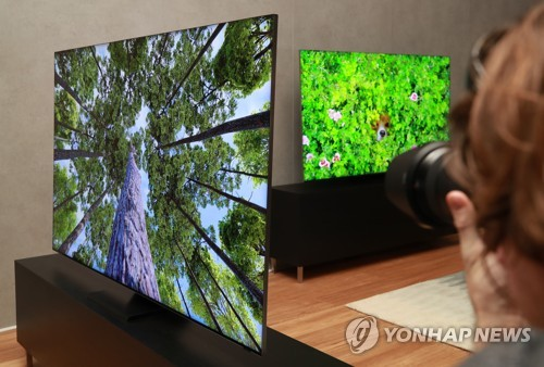 '글로벌 데뷔' 세로TV에 시선집중…삼성 TV 발표에 취재진 북적