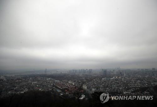 [내일날씨] 전국 흐리고 남쪽부터 비…서울·경기 미세먼지 '나쁨'