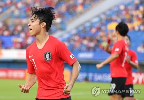 2경기 연속골 이동준, 김학범호 '승리의 파랑새'로