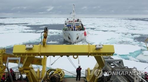 남극해 표류 707홍진호, 오늘 저녁 안전 해역 이동할듯
