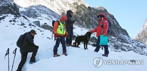 """네팔 수색 엄홍길 귀국 결정…""""현지 팀도 현장서 일시 철수""""(종합2보)"""