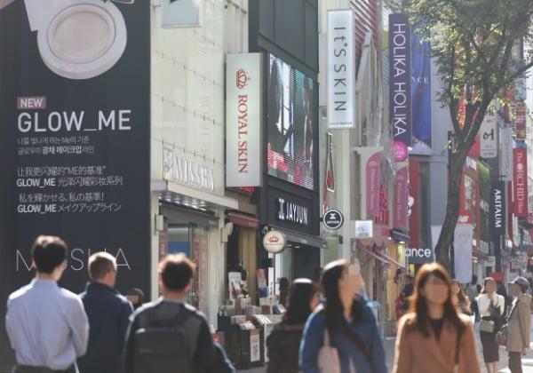 중국인들로 북적이는 명동 거리/사진=연합뉴스