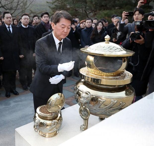 현충원 참배하는 안철수 전 바른미래당 의원 /사진=연합뉴스